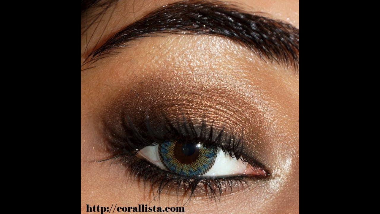 bronze smokey eye makeup tutorial   beauty ideas
