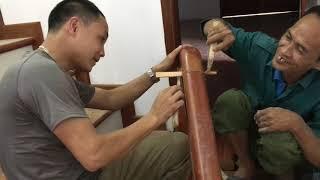 Mẫu cầu thang gỗ lim đơn giản, đẹp, sang trọng và cách tính giá tiền 1m dài cầu thang