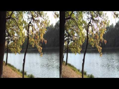 Осень на озере, которого нет. Autumn on lake which isn't present.