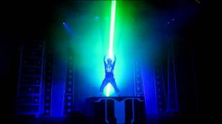 """Laser show in Disney California for """"Tron Legacy"""" movie release"""