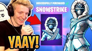 Tfue BUYS & Reacts to *NEW* Snowstrike Skin & Frozen Gear Bundle! - Fortnite Moments - YouTube