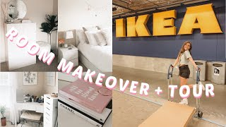 ROOM MAKEOVER + ROOM TOUR *aesthetic* | new furniture, ikea vlogs + more!
