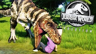 CARNIVORE ESCAPES and ATTACKS HUMANS! - Jurassic World Evolution Gameplay