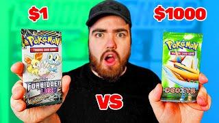 $1 vs $1000 Pokemon Booster Pack