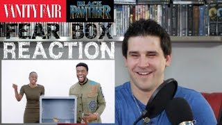 BLACK PANTHER Cast Does The Fear Box Challenge - REACTION