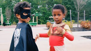 DIY Black Panther Halloween Costume   Baby Dora Milaje