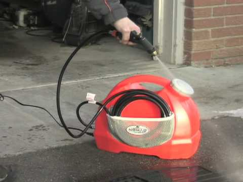 Nomad Portable 12v Pressure Washer Youtube