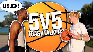 Trash Talking 5v5 Basketball At The Park!