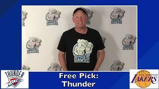 Los Angeles Lakers vs Oklahoma City Thunder 8/5/20 Free NBA Pick and Prediction NBA Betting Tips