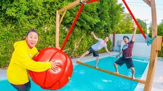 LAST TO FALL IN FREEZING POOL WINS $10,000!!
