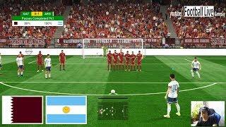 PES 2019 | Qatar vs Argentina | Messi Free Kick Goal | Gameplay PC