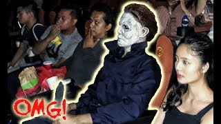 "MICHAEL MYERS TERRORIZES A CINEMA! (""Halloween"" advance screening at Manila)"