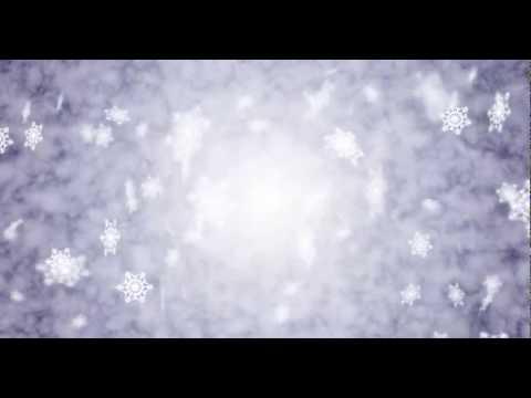 Christmas Background Video - Snow Flakes Falling Loop