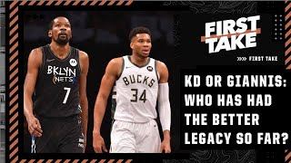 KD or Giannis: Who has had the greater legacy so far? First Take debates