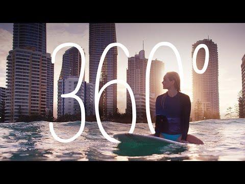 360: Gold Coast surfing, Queensland, Australia