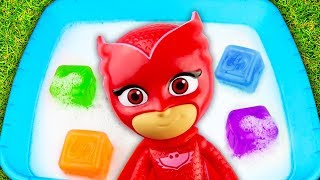Learn Colors with PJ Masks in Water 😍