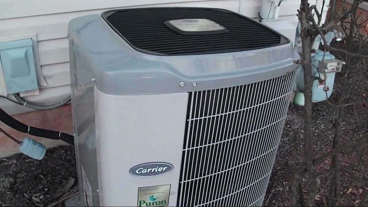 2005 Carrier Infinity System 2 Ton Heat Pump Startup