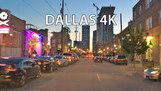 Dallas 4K - Night Drive - Driving Downtown - USA