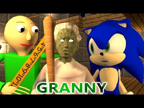 GRANNY VS BALDI & SONIC CHALLENGE! (official) Minecraft Horror Game Update Animation Video