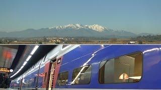 Barcelona to Paris by TGV high-speed train...