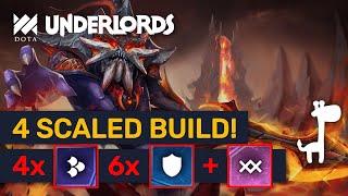 4 SCALED BUILD! 50/s Retaliate DMG + 6 Warriors! | Dota Underlords