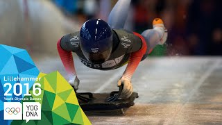 Skeleton - Ashleigh Fay Pittaway (GBR) wins Women's gold | Lillehammer 2016 Youth Olympic Games