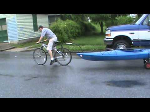 Kayak Tow Bicycle Rack Part 1 Youtube