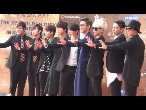 [15/01/2013] 27th Golden Disk Awards Red Carpet - Super Junior & SHINee
