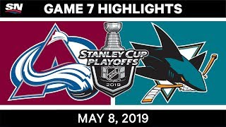 NHL Highlights | Avalanche vs. Sharks, Game 7 – May 8, 2019