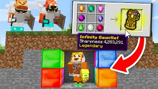 minecraft manhunt but I have the INFINITY GAUNTLET