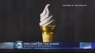 McDonald's offers free cones on National Ice Cream Day