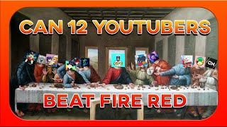 Can You Beat Pokemon fire red With 12 Youtubers ?!