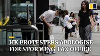Hong Kong protesters apologise after storming government building