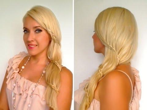 Superb Prom Hairstyle Side Swept Braid Long Hair Tutorial Bebexo Hairstyles For Women Draintrainus