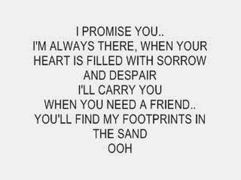 Leona Lewis - Footprints In The Sand (Instrumental with lyrics)