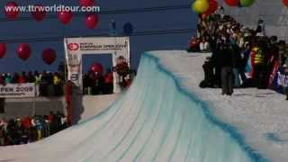 Kevin Pearce beats Shaun White at the TTR Burton European Open Halfpipe Finals