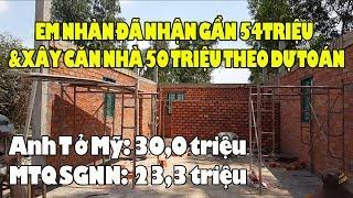 Ngừng hỗ trợ xây nhà cho Cao Thanh Nhàn Long An vì đã nhận 53,4tr đủ xây nhà 50tr theo dự toán rồi