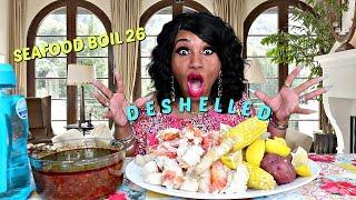 Seafood Boil 26, Deshelled Version, I have an ASMR Channel Now
