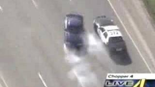 Mustang running from the cops