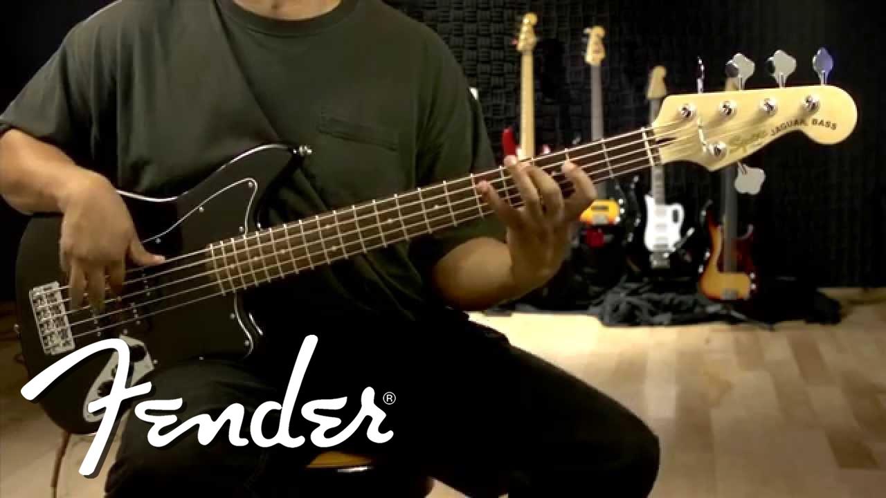 squier vintage modified jaguar bass v special demo youtube. Black Bedroom Furniture Sets. Home Design Ideas