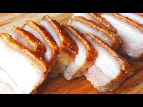 How to Make CRISPY Pork Belly 脆皮燒肉 CiCi Li