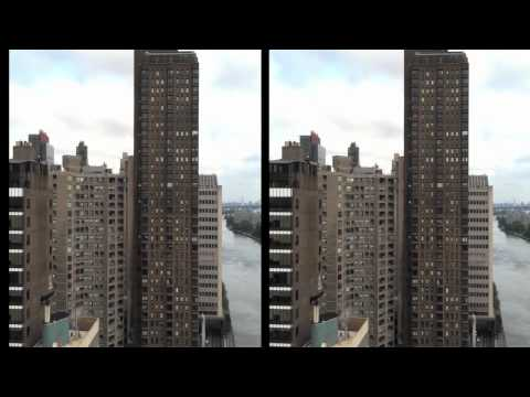 3D NYC from Roosevelt Island Tramway Oct 2011