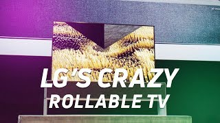 LG's amazing rollable OLED TV at CES 2019