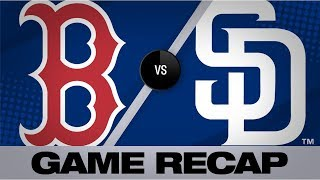 Martinez's 7 RBIs fuel 11-0 win for Red Sox   Red Sox-Padres Game Highlights 8/23/19