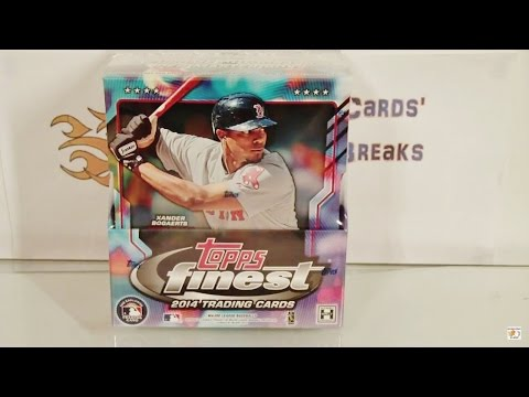 2014 Topps Finest Baseball Hobby Box Group Break! AWESOME!