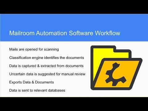 What is mailroom automation software?