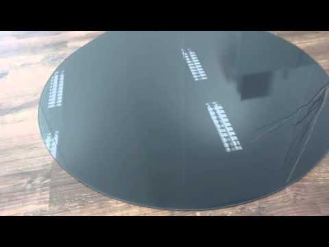 Glasplatte Funkenschutz Ofenplatte Kaminbodenplatte RAL 7024 graphitgrau