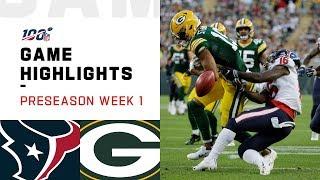Texans vs. Packers Preseason Week 1 Highlights | NFL 2019