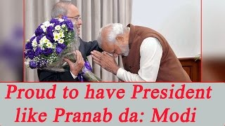 PM Modi thanks President for guidance in initial days as P..