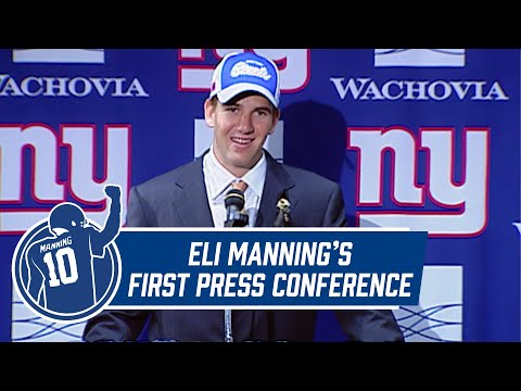 Eli Manning's FIRST Press Conference as New York Giant from 2004